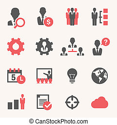 Internet Business. Icon set - Web and Soft Icon set. Vector...