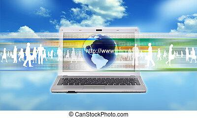 Internet business worker