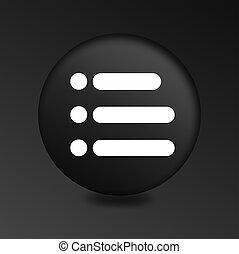 black round button menu