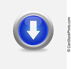 Blue icon arrow down