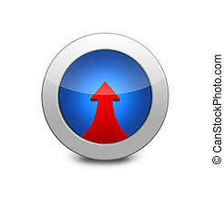 Blue icon arrow up