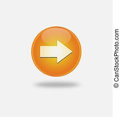 orange icon arrow right