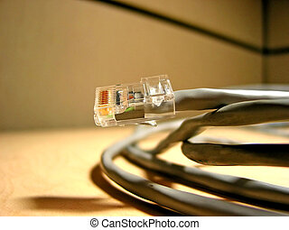 Internet cable closup