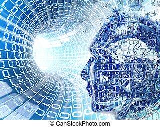 internet, cavo, concetto