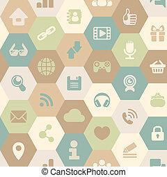 Internet Cells Seamless Pattern in
