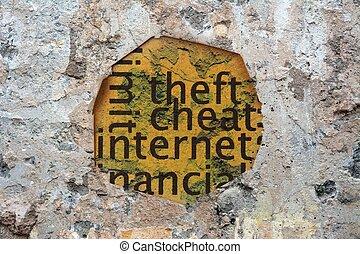 Internet cheat grunge concept