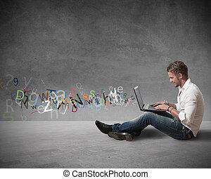 internet, chiacchierata, concetto
