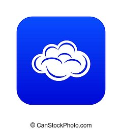 Internet cloud icon blue