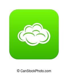 Internet cloud icon green