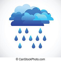 internet cloud, vector image