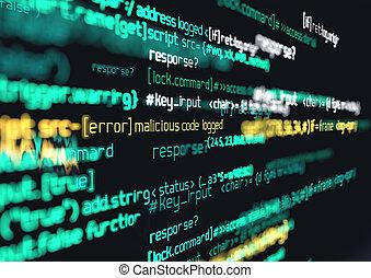 Internet Code Hack Background