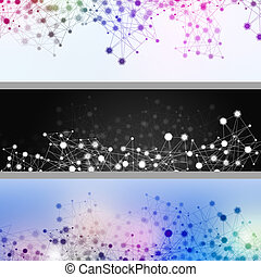 Internet Communication Banners - abstract technology...