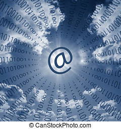 Internet communications - Ones and zeros surrounding email...