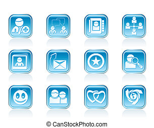 Internet Community icons - Internet Community and Social...