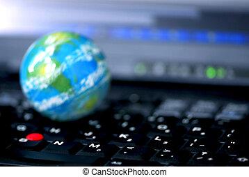 internet, computadora, empresa / negocio, global