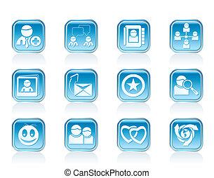 internet, comunidade, ícones