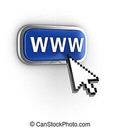 internet, conceito, 3d