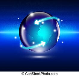 internet, conceito, de, negócio global
