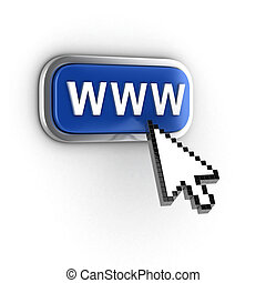 internet, concept, 3d
