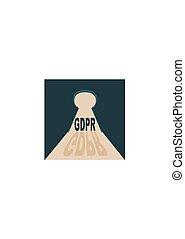 Internet concept acronym - Acronym GDPR - General Data...