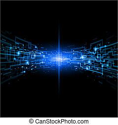 Internet concept, communication, technology-style background. Illustration for design