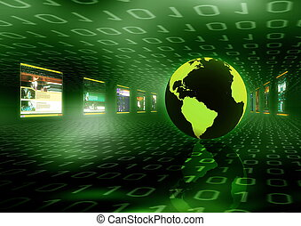 Internet Concept - Illustration of internet world