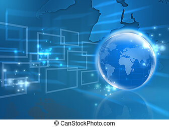 Internet Concept of global