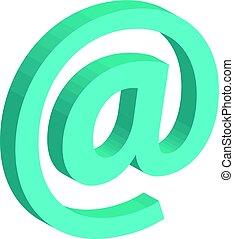 Internet concept- @symbol isolated on white background
