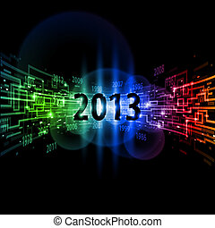 Internet concept Twenty Thirteen, communication,...
