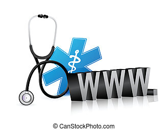 internet concept with a Stethoscope
