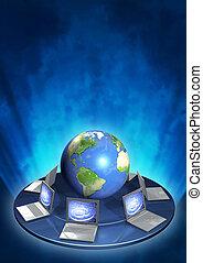 Internet - Conceptual image - global communication