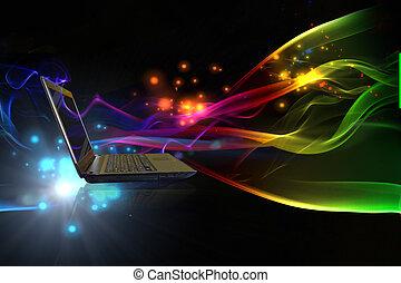 internet, concetto, di, affari globali
