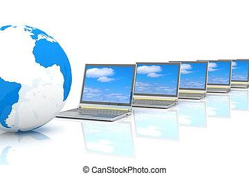 internet, concetto, di, globale, busines