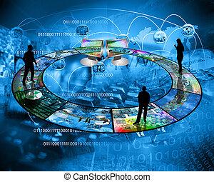 internet, conecta, gente