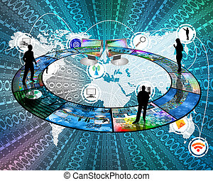 internet, conecta, pessoas