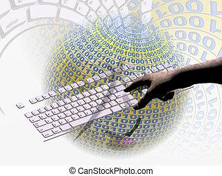 internet, connection - A free interpretation of an internet...