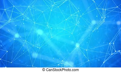 Internet connection abstract sense of science and technology graphic design Loop background. Medical, Medicine, Science, Technology, Chemistry communications, internet, plexus, social media