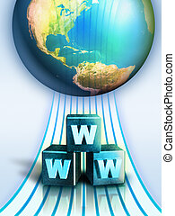 Internet connection - World wide web concept. Digital...
