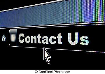 Internet Contact Us Concept