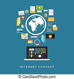 Internet content. Digital services.