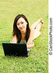 Internet Craze with a Young Asian Teenager