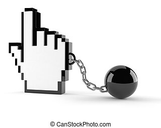 Internet cursor with chain