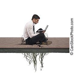 internet, dépendance, concept