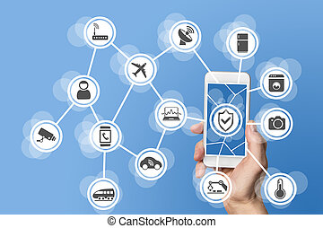 internet, de, coisas, segurança, conceito