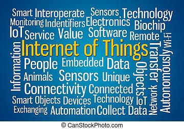 internet, de, cosas