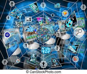 internet de la tela