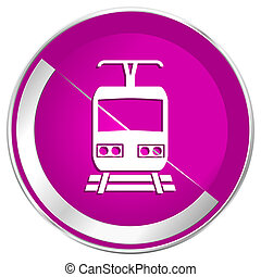 internet de la tela, metálico, tren, diseño, violeta, icon., frontera, plata