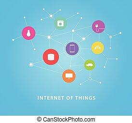 internet, di, cose