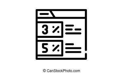 internet discount coupon black icon animation