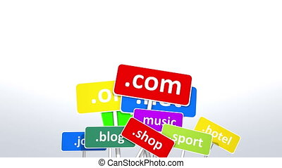 Internet domains.